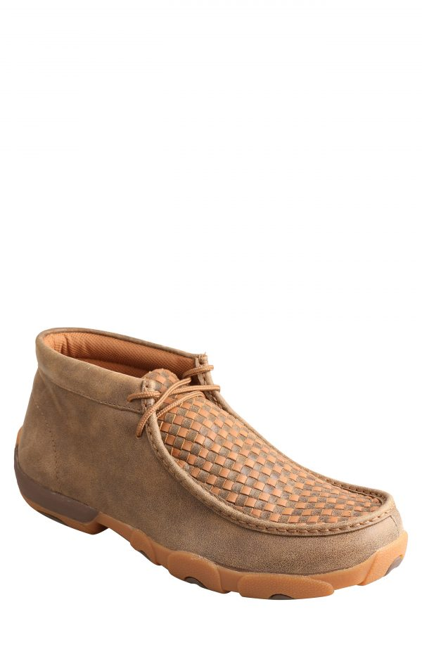 Men's Twisted X Woven Leather Chukka Driving Boot, Size 7.5 M - Brown