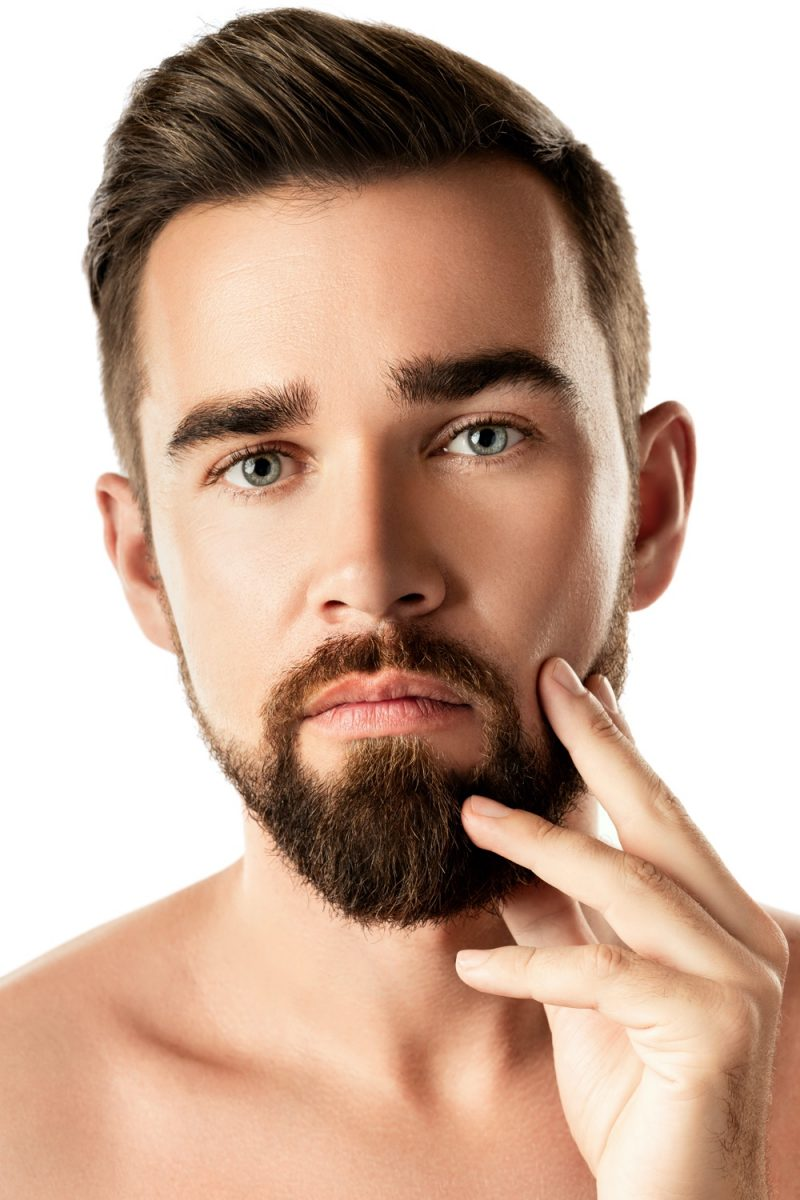 Model with Beard