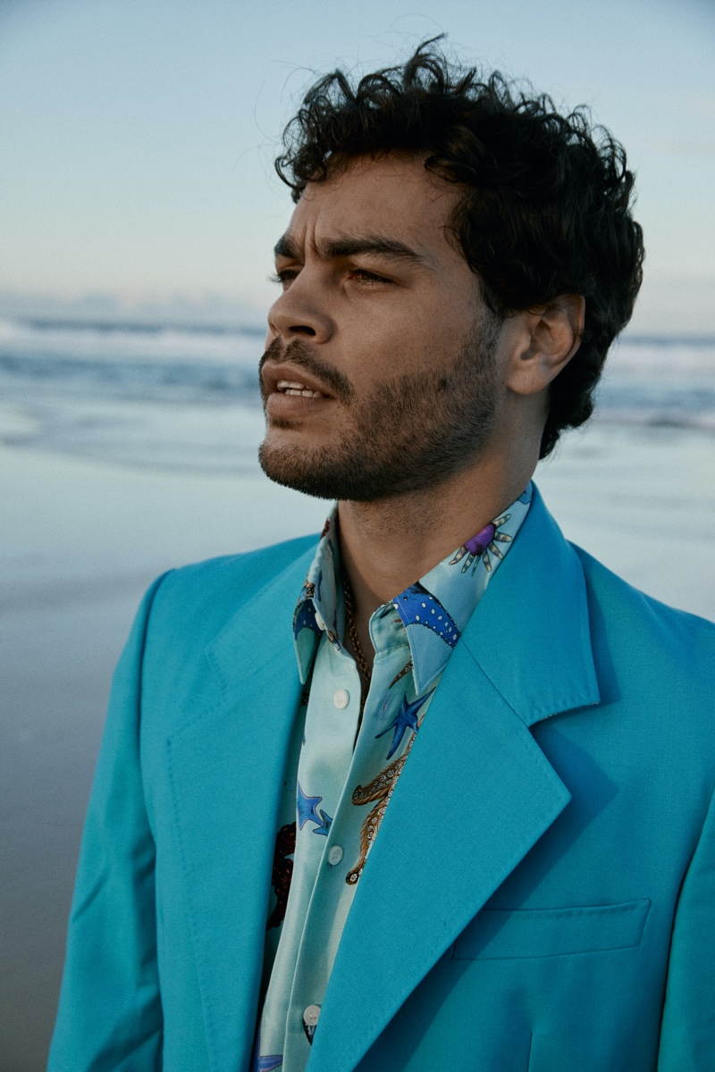 Nathan McGuire Hits the Beach for TODAY Cover Shoot