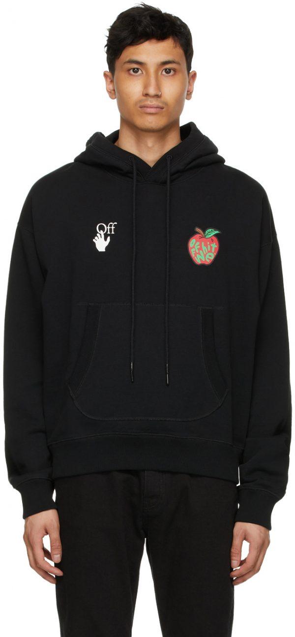 Off-White Black Apple Flatlock Hoodie