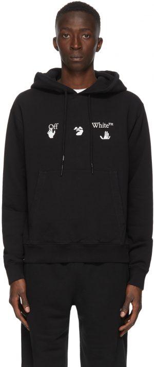 Off-White Black Big Logo Slim Hoodie