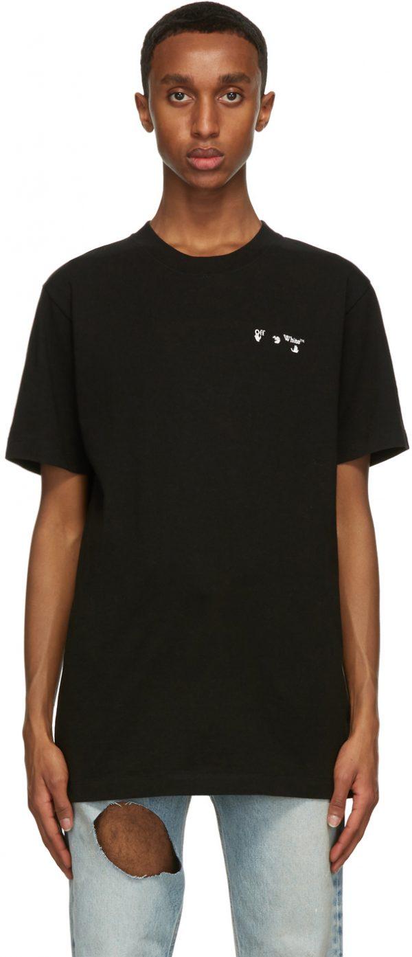 Off-White Black Chest Embroidered Logo T-Shirt