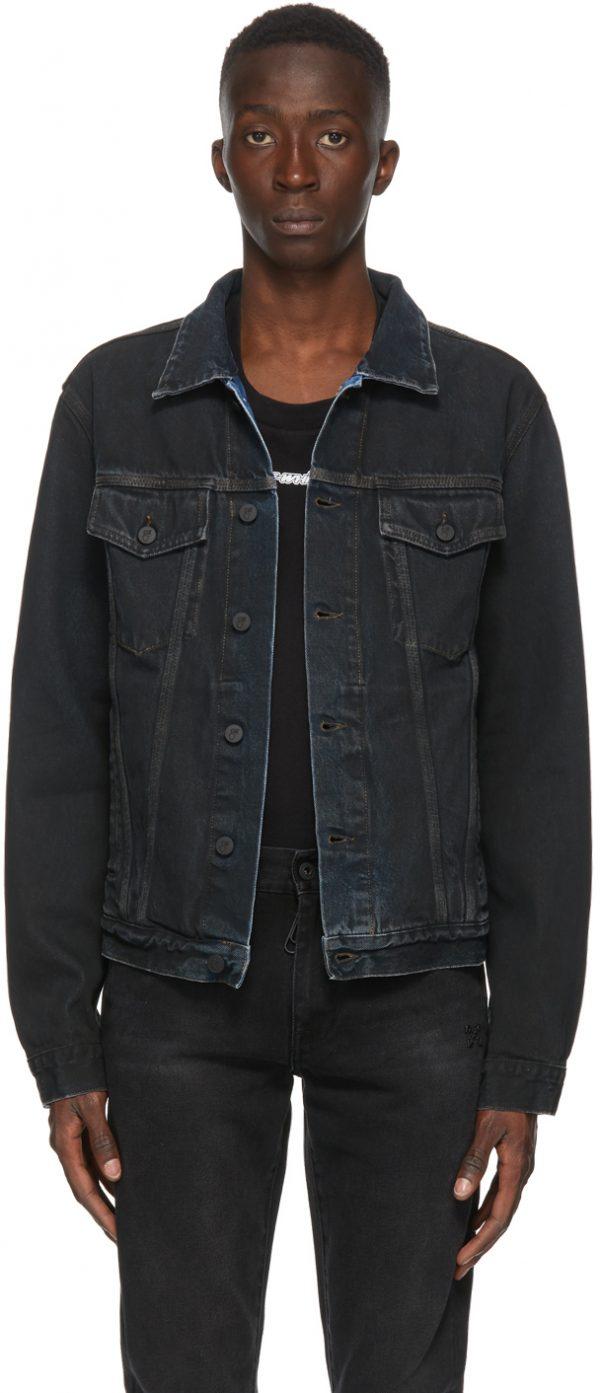 Off-White Black Denim Stencil Jacket