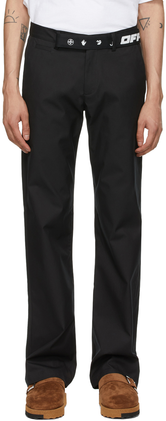 Off-White Black Industrial Belt Chino Trousers