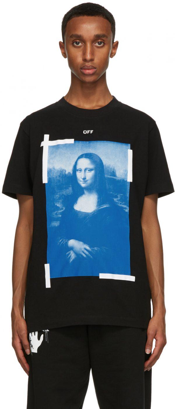 Off-White Black Mona Lisa T-Shirt