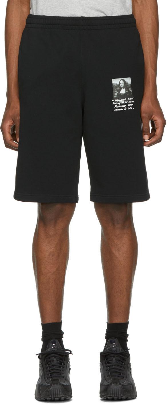 Off-White Black Monalisa Sweat Shorts