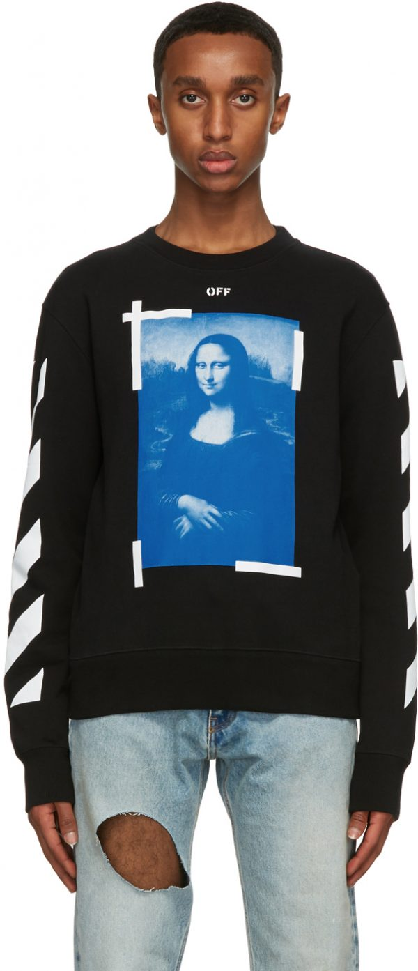 Off-White Black Monalisa Sweatshirt
