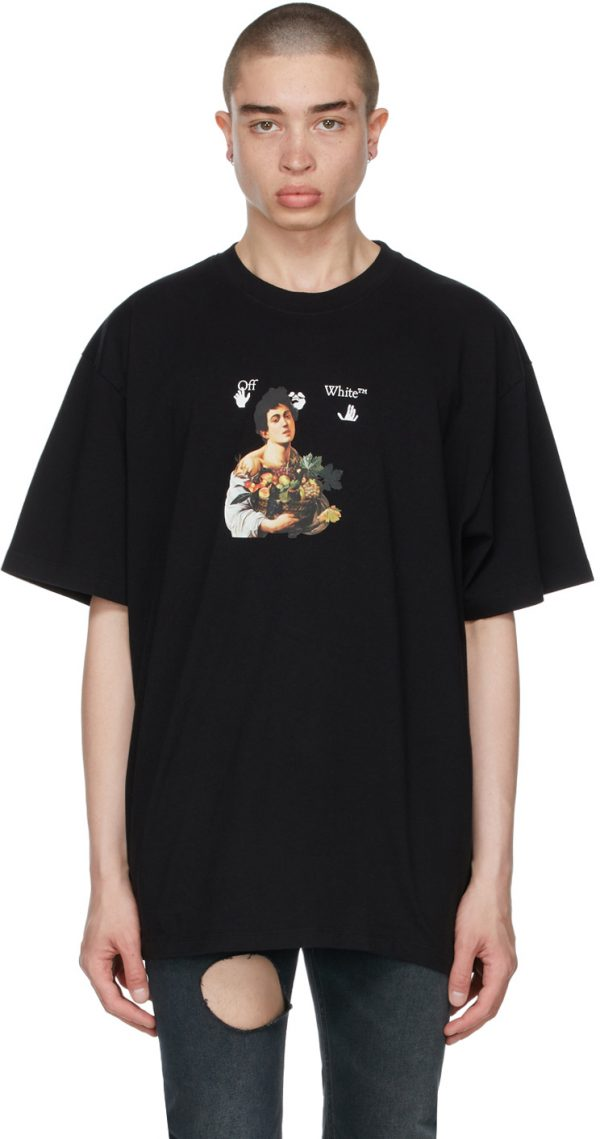 Off-White Black Oversized Caravaggio Boy T-Shirt