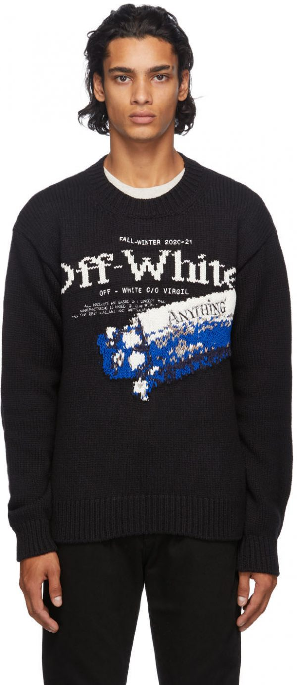 Off-White Black Pascal Medicine Sweater