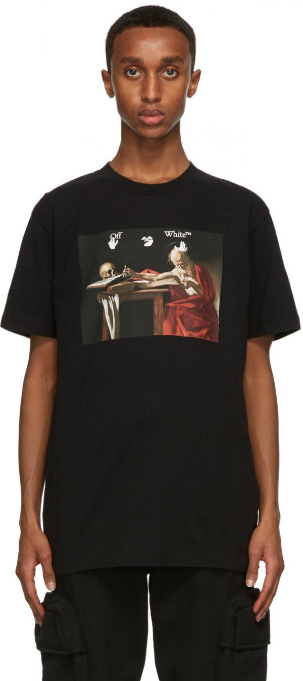Off-White Black Slim Caravaggio T-Shirt