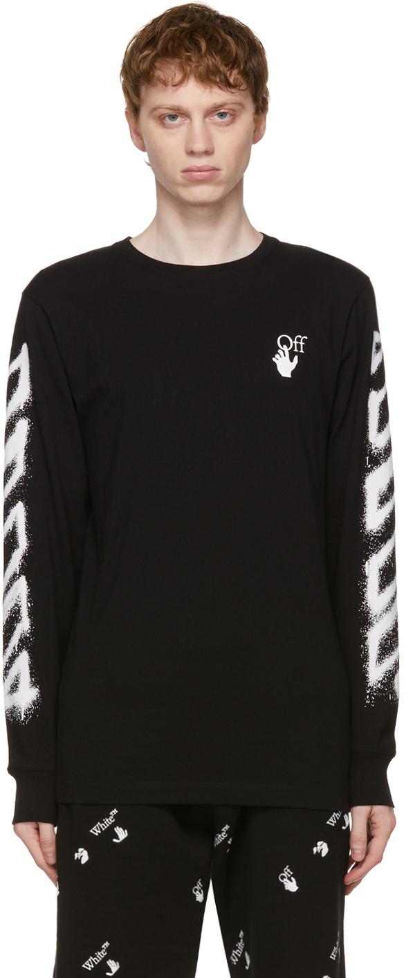 Off-White Black Spray Marker Long Sleeve T-Shirt
