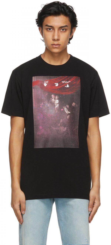 Off-White Black Sprayed Caravaggio Slim T-Shirt
