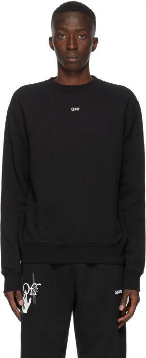 Off-White Black Stencil Sweatshirt