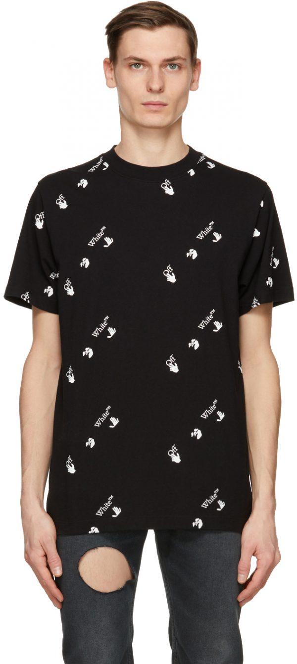 Off-White Black & White All Over Logo T-Shirt