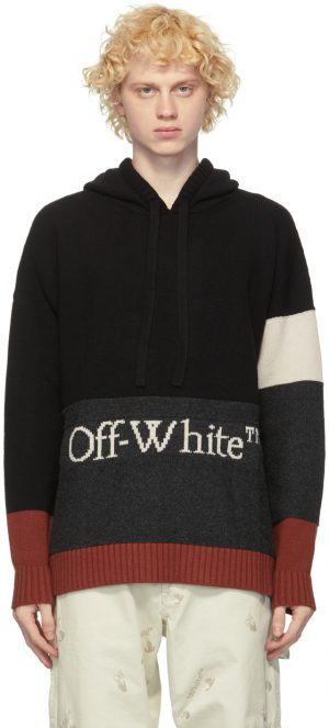 Off-White Black & White Colorblock Hoodie