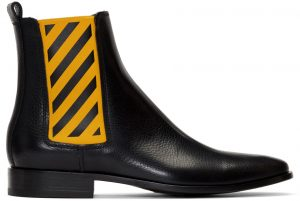 Off-White Black & Yellow Chelsea Boots