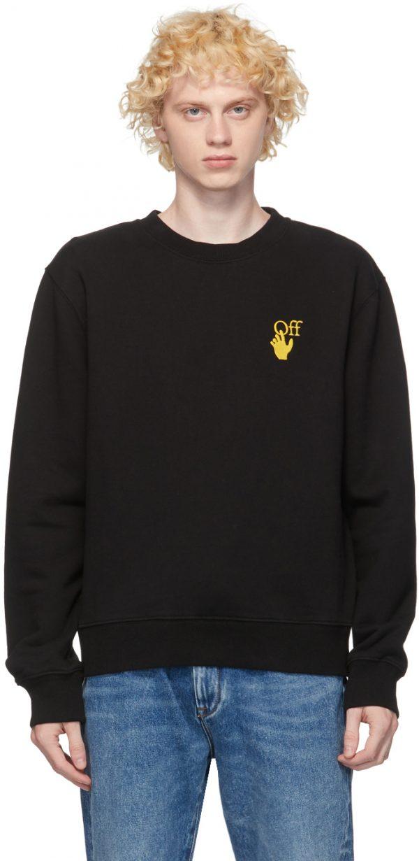 Off-White Black & Yellow Worldwide Sweatshirt