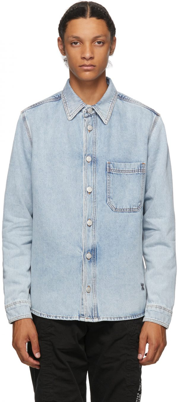 Off-White Blue Denim Stencil Arrows Jacket