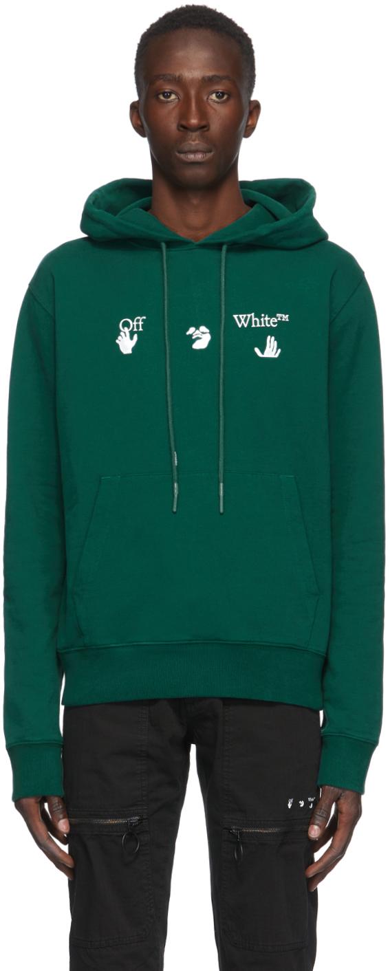 Off-White Green Big Logo Hoodie