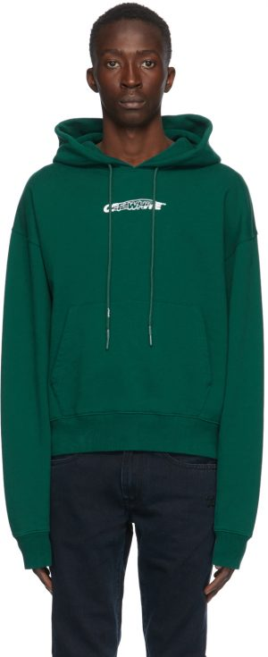 Off-White Green Hand Painters Hoodie
