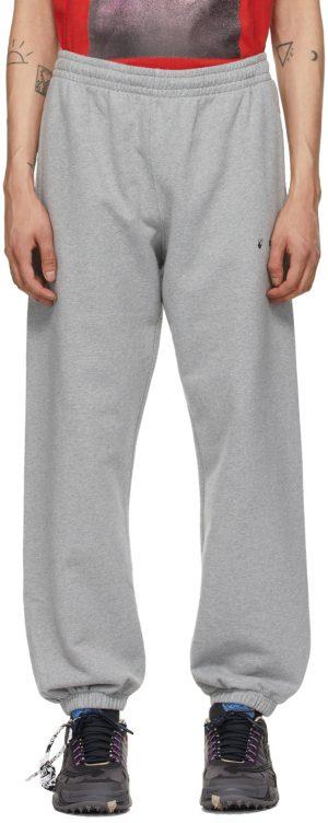 Off-White Grey Raw Arrow Lounge Pants
