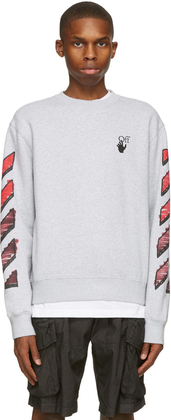 Off-White Grey Slim Marker Sweatshirt