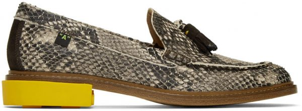 Off-White Off-White Python Tassel Loafers