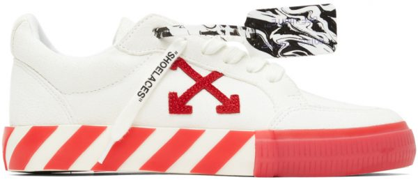 Off-White Off-White & Red Vulcanized Low Sneakers