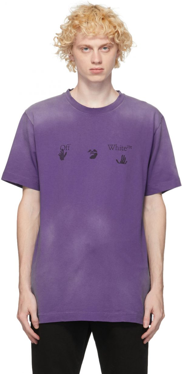 Off-White Purple Vintage Logo T-Shirt