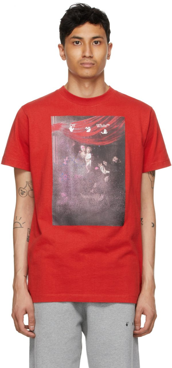 Off-White Red Sprayed Caravaggio T-Shirt