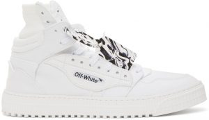 Off-White White Canvas Off Court 3.0 High-Top Sneakers