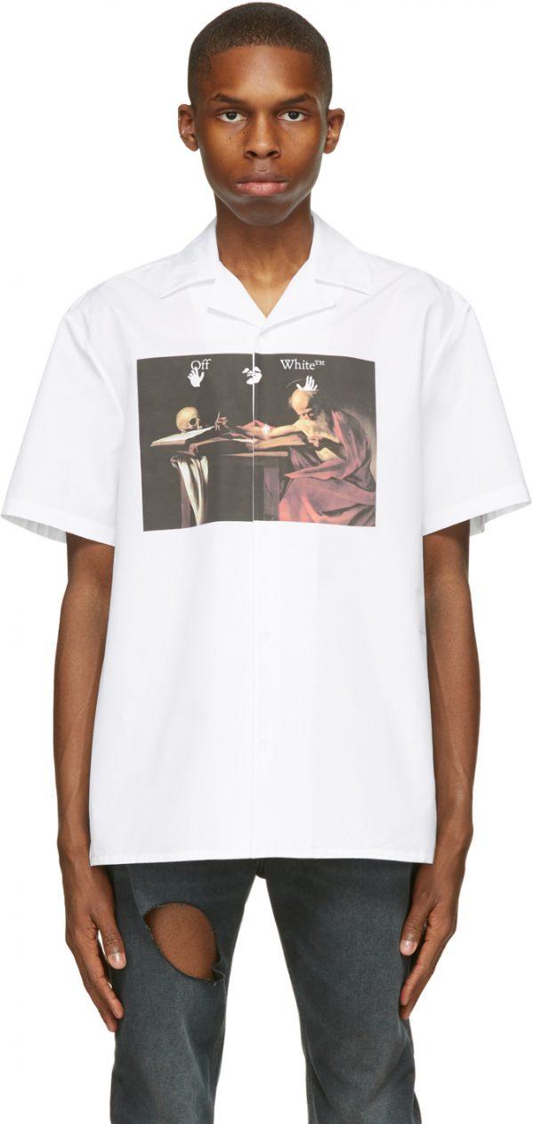 Off-White White Caravaggio Holiday Short Sleeve Shirt