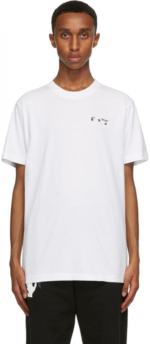 Off-White White Chest Embroidered Logo T-Shirt
