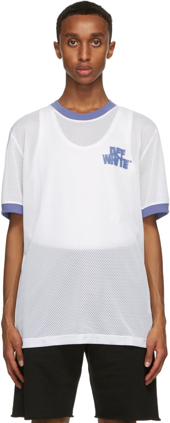 Off-White White Mesh Hand & Arrows T-Shirt