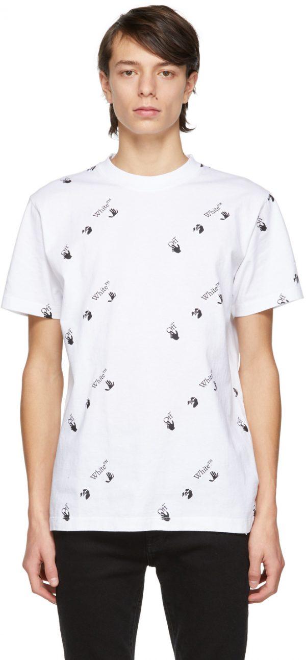 Off-White White Slim Logo T-Shirt