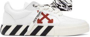 Off-White White & Orange Vulcanized Low Sneakers