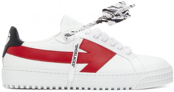 Off-White White & Red Arrows Sneakers
