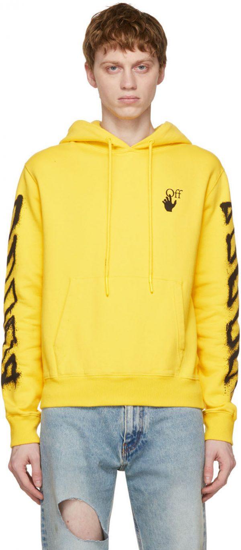 Off-White Yellow Spray Marker Hoodie