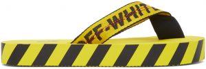 Off-White Yellow & Black Industrial Flip Flops