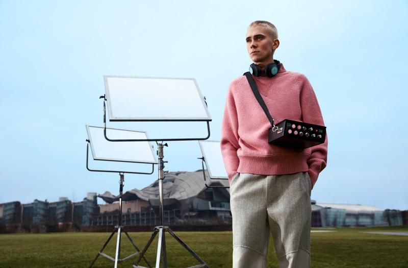 Swedish entertainer Felix Sandman fronts Salvatore Ferragamo's fall-winter 2021 campaign.