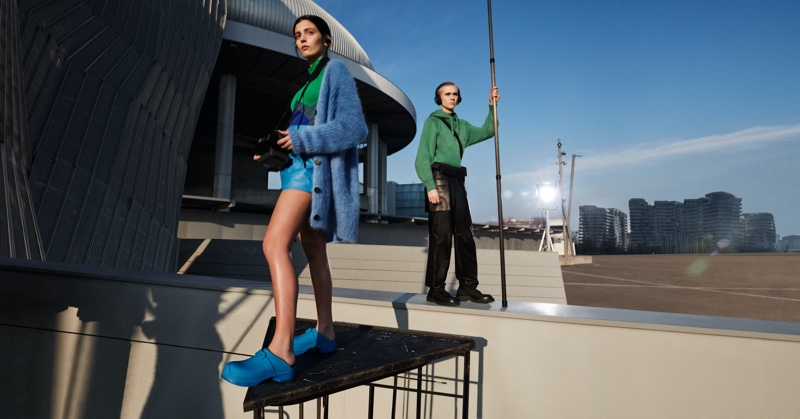 Italian actress Gaia Girace and Swedish entertainer Felix Sandman appear in Salvatore Ferragamo's fall-winter 2021 campaign.
