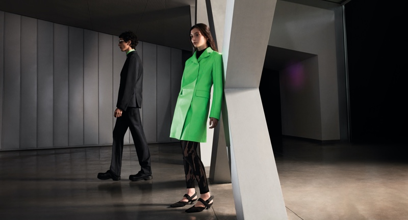 Takfarines Bengana and Gaia Girace star in Salvatore Ferragamo's fall-winter 2021 campaign.
