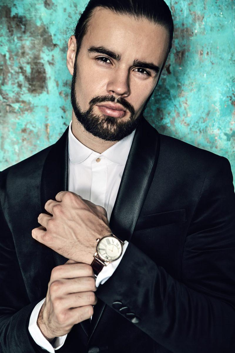 Stylish Man Wearing Watch