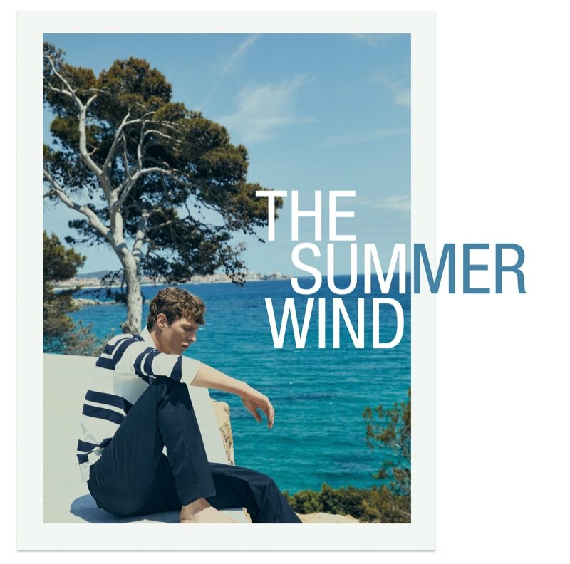 """Tim Schuhmacher stars in a new men's editorial for Massimo Dutti entitled """"The Summer Wind."""""""