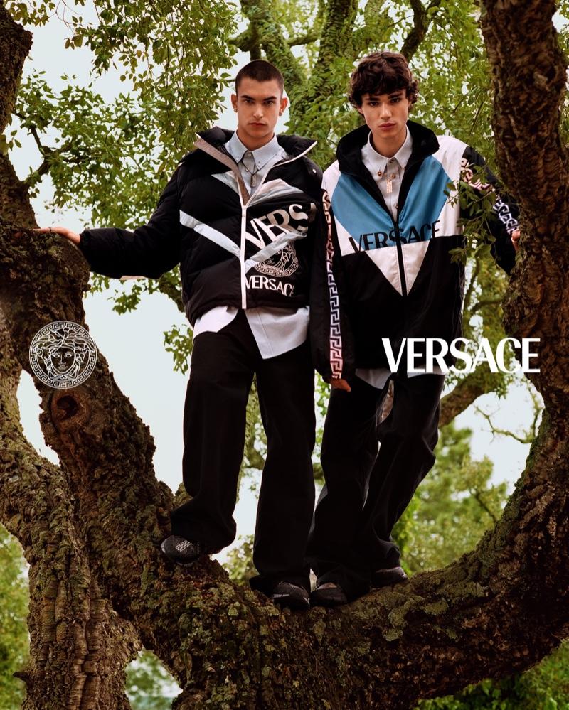 Raphael, Simone & Fernando Climb Heights for Versace Campaign