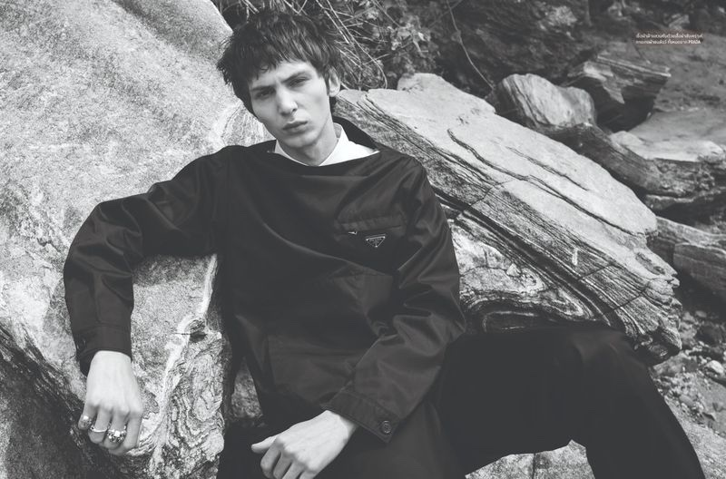 Willow Barrett Answers the Call of Nature for L'Officiel Hommes Thailand