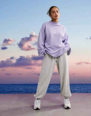 ASOS 4505 unisex high neck sweat-Purple