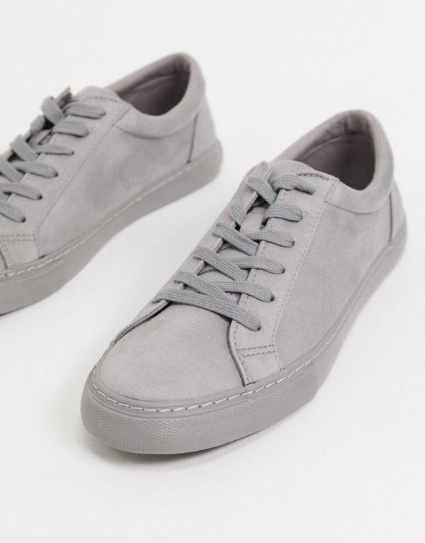 ASOS DESIGN sneakers in gray-Grey