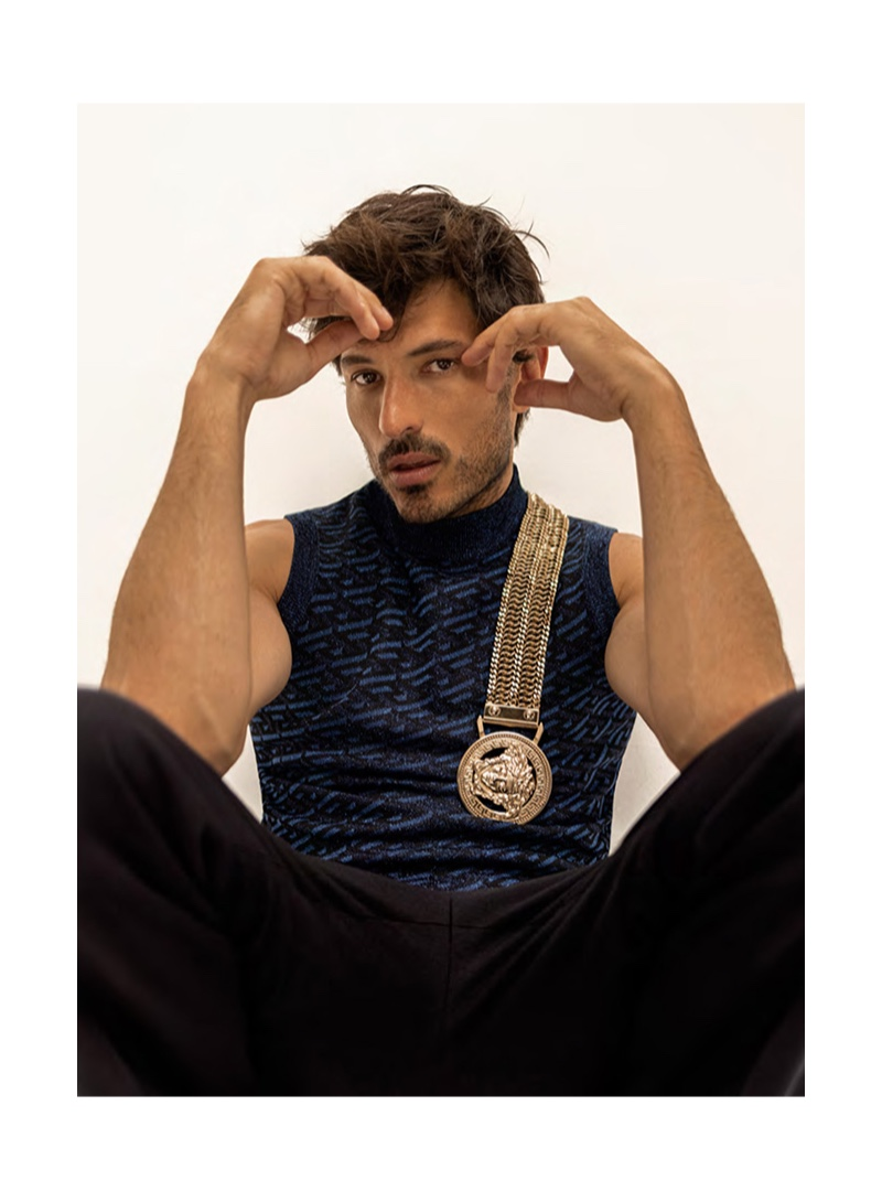 Andres Velencoso Rocks Bold Styles for Issue Cover Story