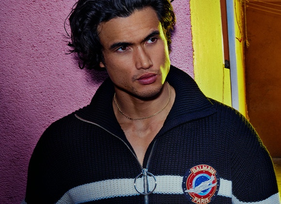 Fracture: Charles Melton Fronts Balmain Fall '21 Campaign